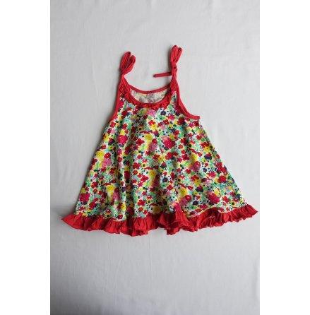 Et Arni, Rödblommig klänning strl. 30